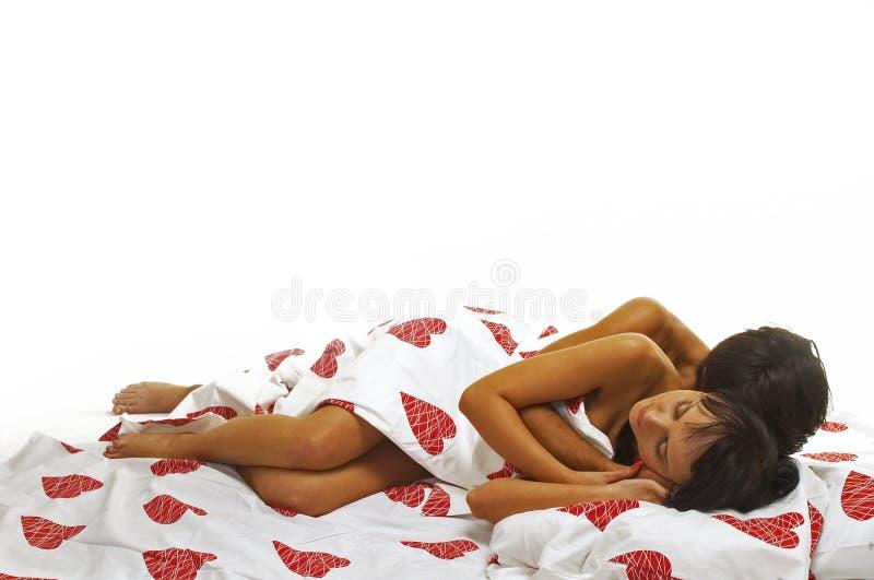 In bed stock fotografie