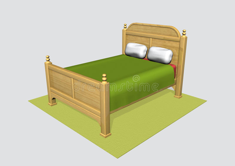 Bed royalty free illustration