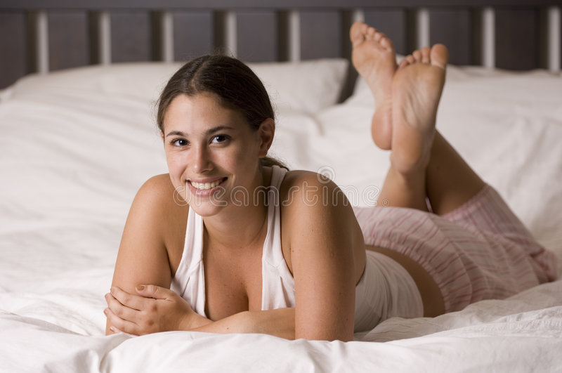 Download In Bed 13 stock photo. Image of stare, soft, headboard - 204088