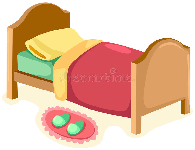 Download Bed stock vector. Illustration of decoration, furniture - 13958772