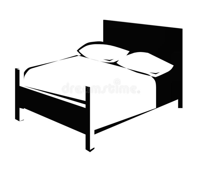 Bed stock illustratie
