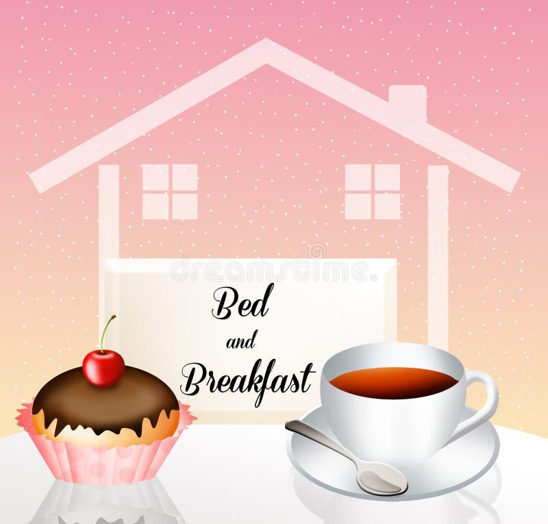 Bed and breakfast illustrazione vettoriale