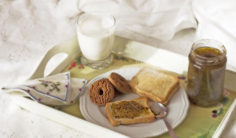 Bed & breakfast 4 royalty free stock images
