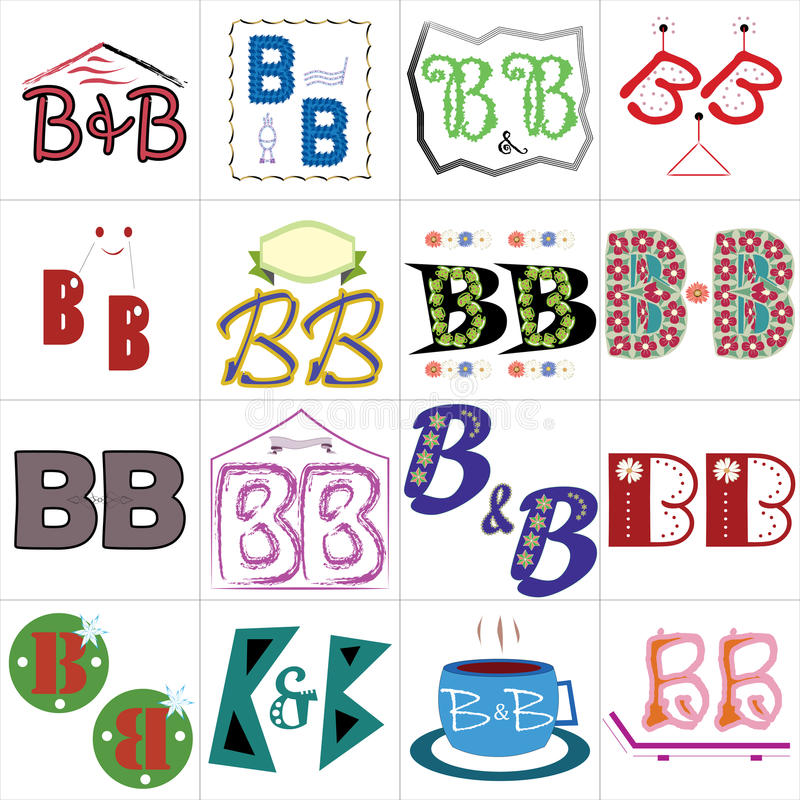 Bed And Breakfast Logo Set Stock Vector - Image: 68099198
