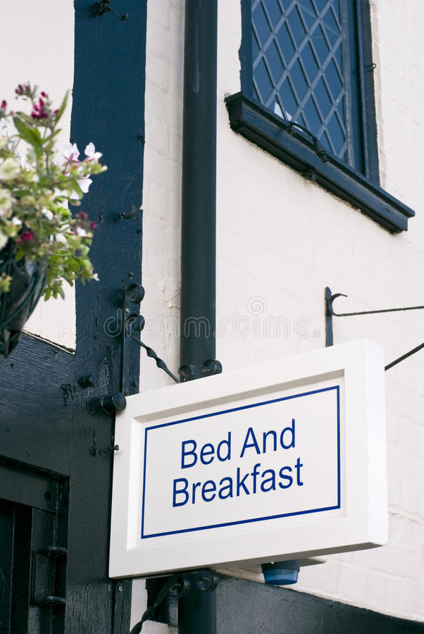 Bed and breakfast sign royalty free stock photography