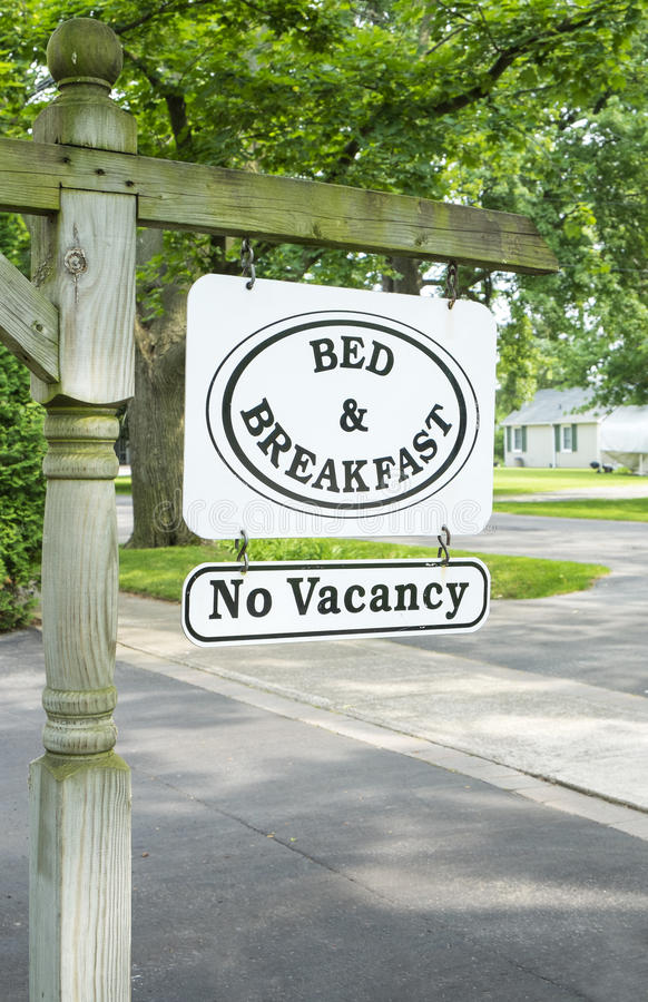 Bed & Breakfast Sign #2 royalty free stock photos