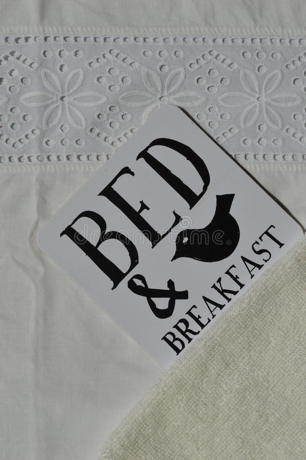 Bed and Breakfast Sign stock image