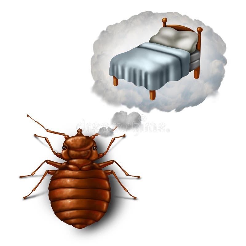 Bed Bug Dreaming ilustración del vector