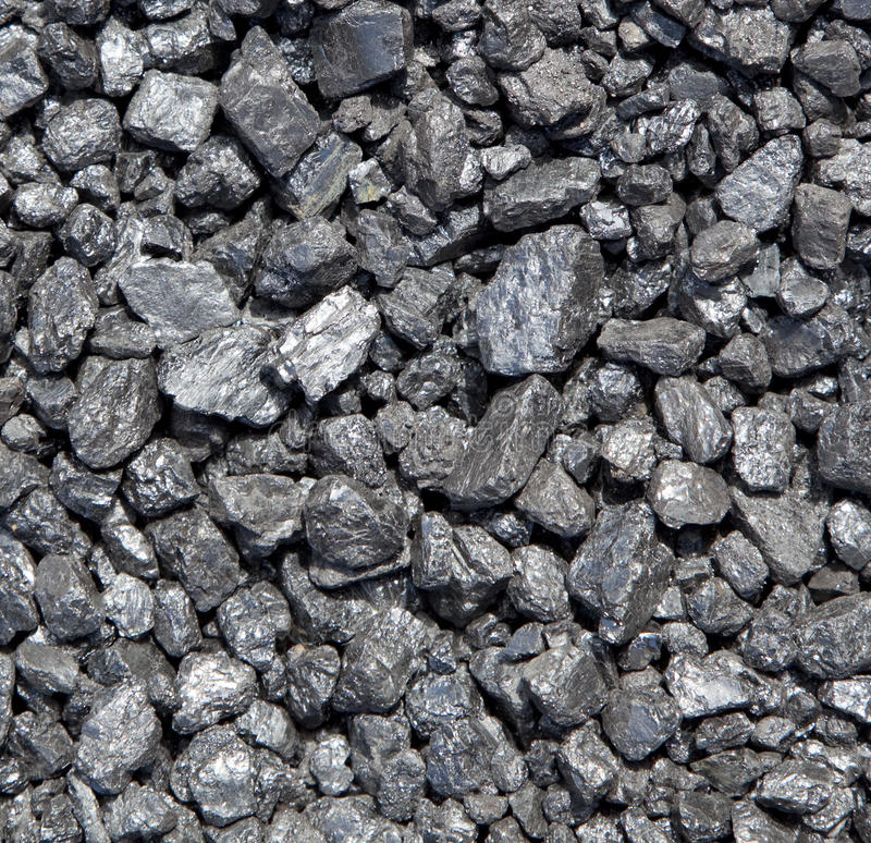 Bed Of Coal Royalty Free Stock Photography