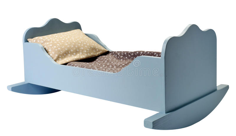 Bed For Dollhouse Stock Image