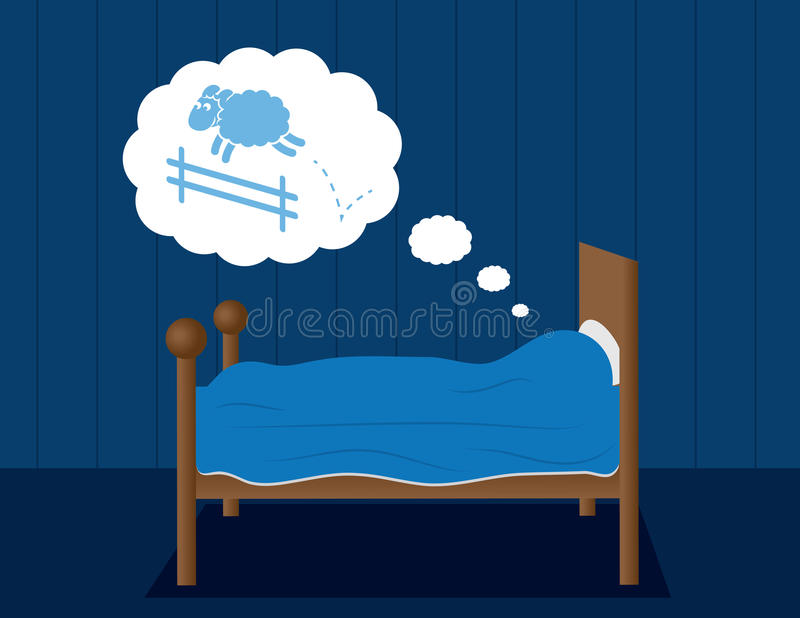 Download Bed Dreaming Sheep stock vector. Illustration of peaceful - 30376184