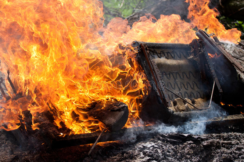 Download Bed on the fire stock image. Image of burn, spark, combust - 21934227