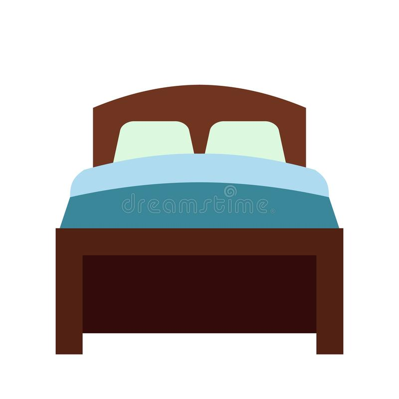 Bed flat icon. Isolated on white background vector illustration