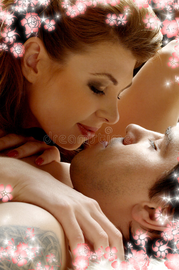 Download In bed with flowers #2 stock photo. Image of cuddle, feeling - 4074232