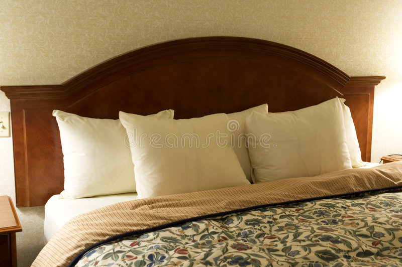 Download Bed Headboard stock photo. Image of comforter, wood, wall - 29660