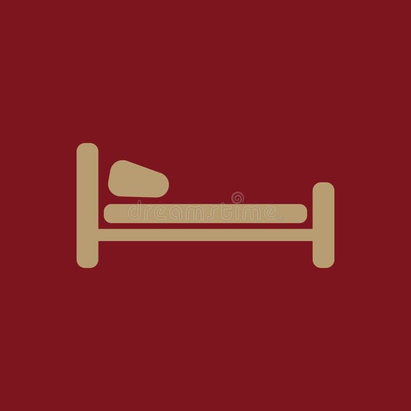The Hotel Icon . Travel Symbol. Flat Stock Vector