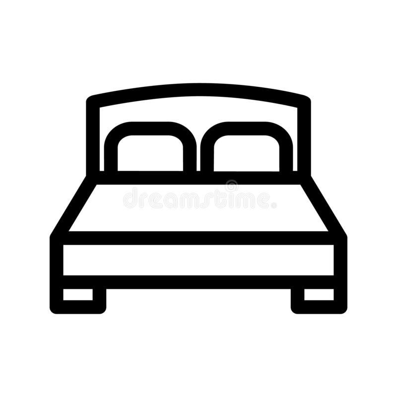 Bed icon vector. bedroom illustration symbol. hotel logo or sign. vector illustration