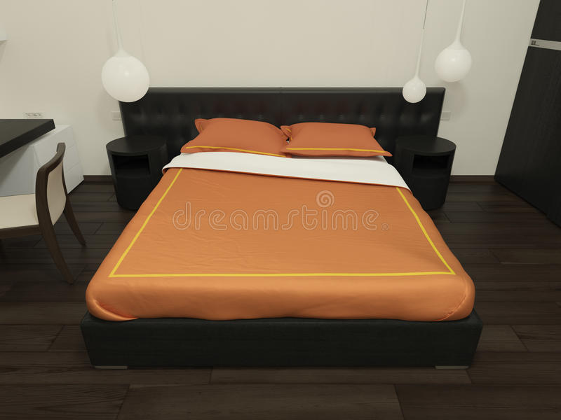 Bed In Interior Stock Images
