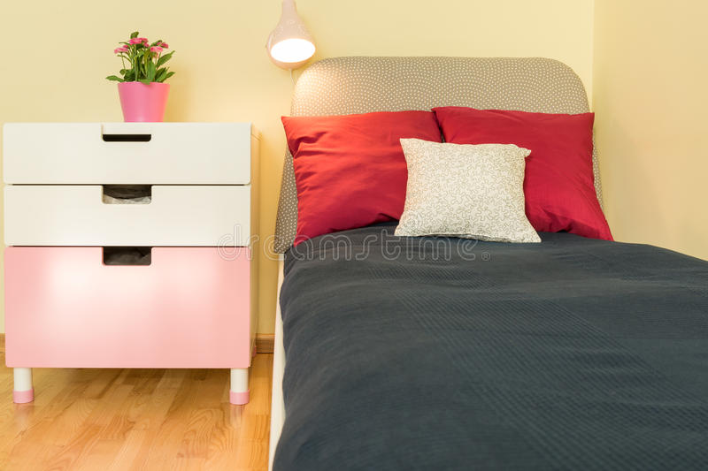 Bed for kids royalty free stock images