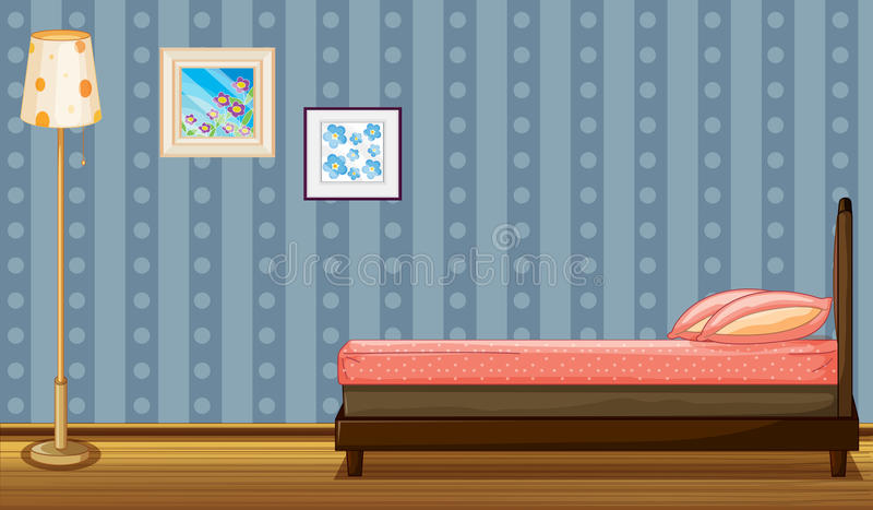 Download A bed and a lamp stock vector. Image of mattress, frame - 30697820