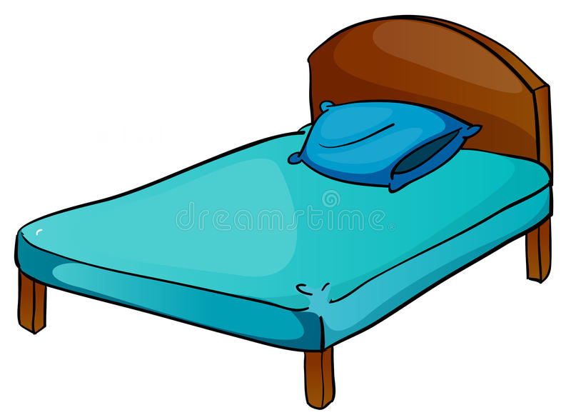 Bed and pillow vector illustration