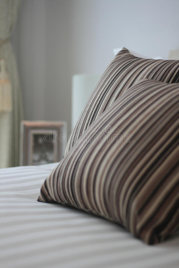 Download Bed and pillow closeup stock image. Image of home, pillows - 20140001