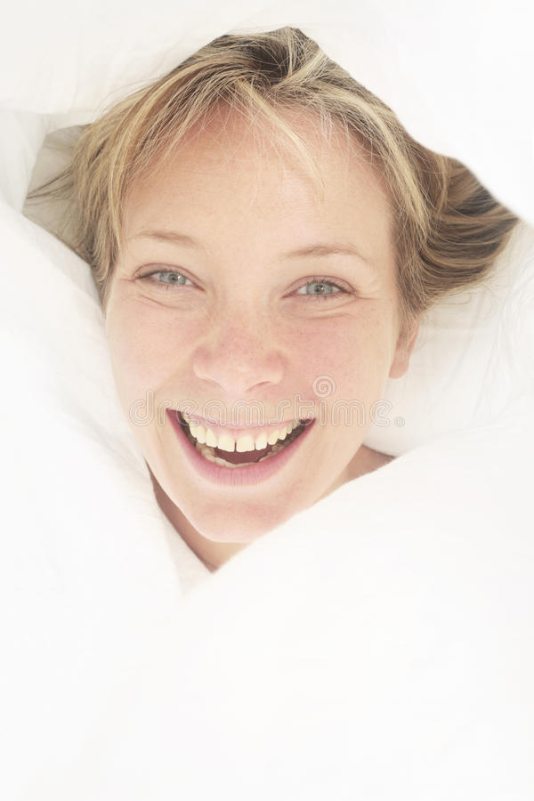 Bed Portrait royalty free stock images