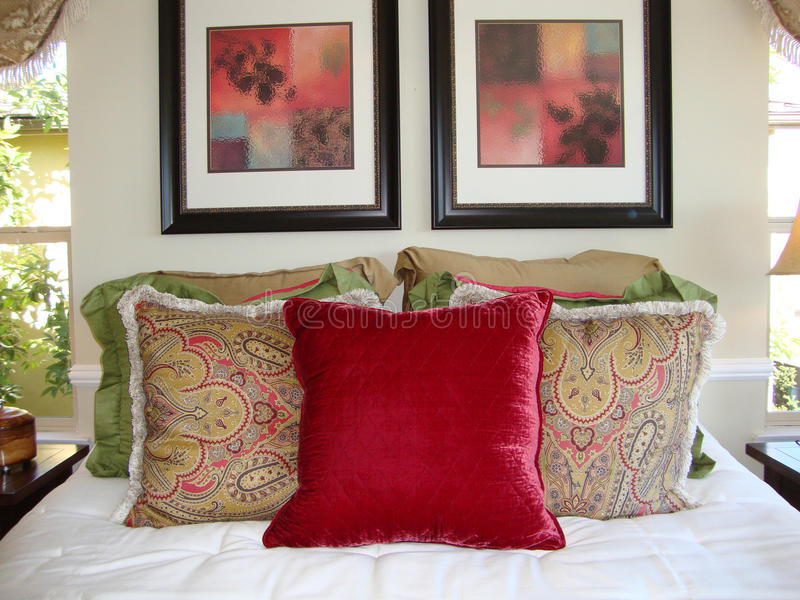 Download Bed room Pillows stock image. Image of luxury, comfortable - 11517675