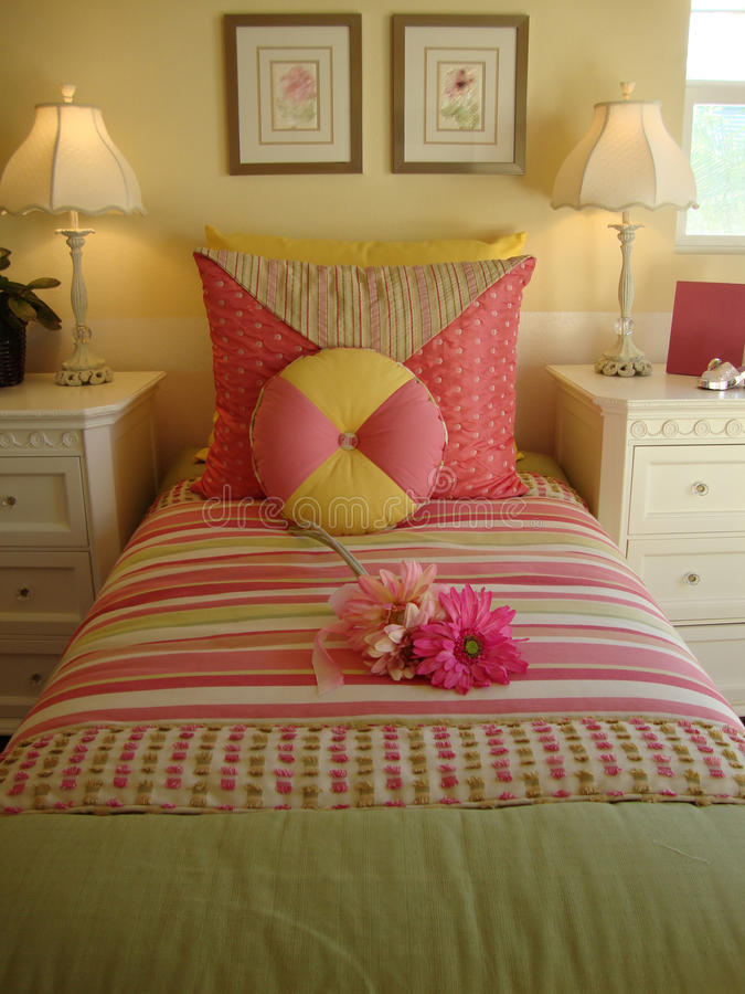 Download Bed Room Young Girls stock photo. Image of house, pillows - 11096210