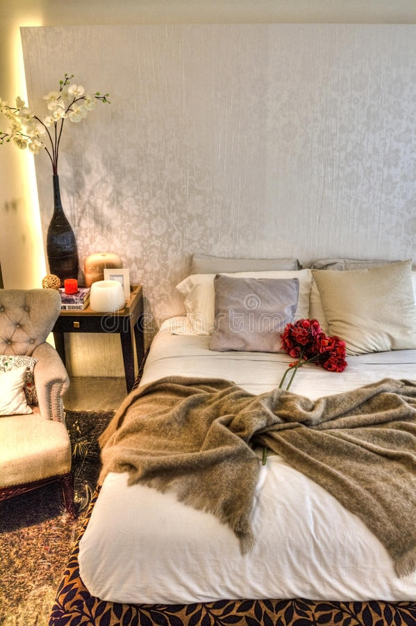 Download Bed with Roses stock photo. Image of bouquet, rose, penthouse - 16725890