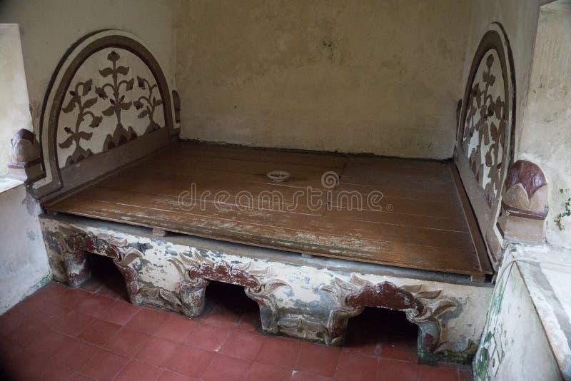 Bed& x27; s keraton Imperiumkoning royalty-vrije stock foto's