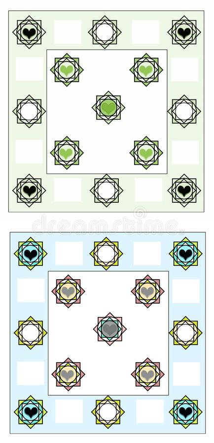 Bed sheet design all layer finish base border change royalty free stock image
