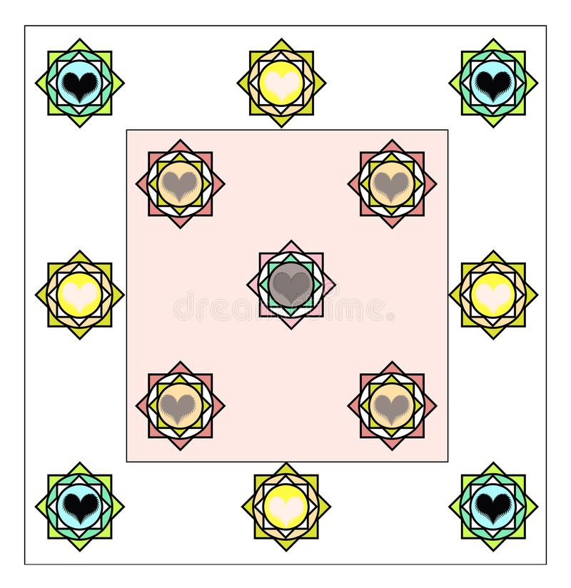 Bed sheet design all layer finish border change stock photo