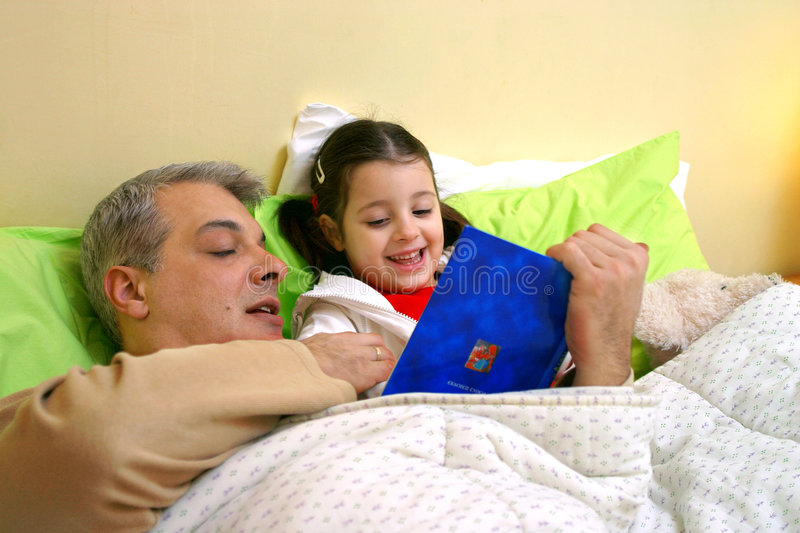 Download Bed time story stock image. Image of optimistic, cosy, colorful - 776585