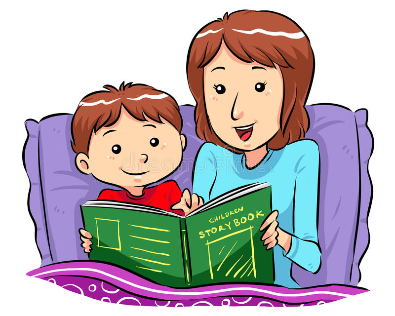 Bed Time Story stock illustration