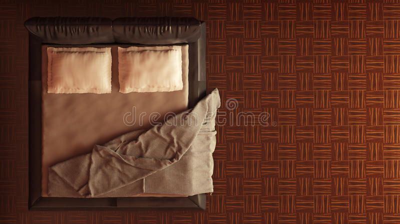 Bed Top View Stock Photo Image Of Bedding Furniture