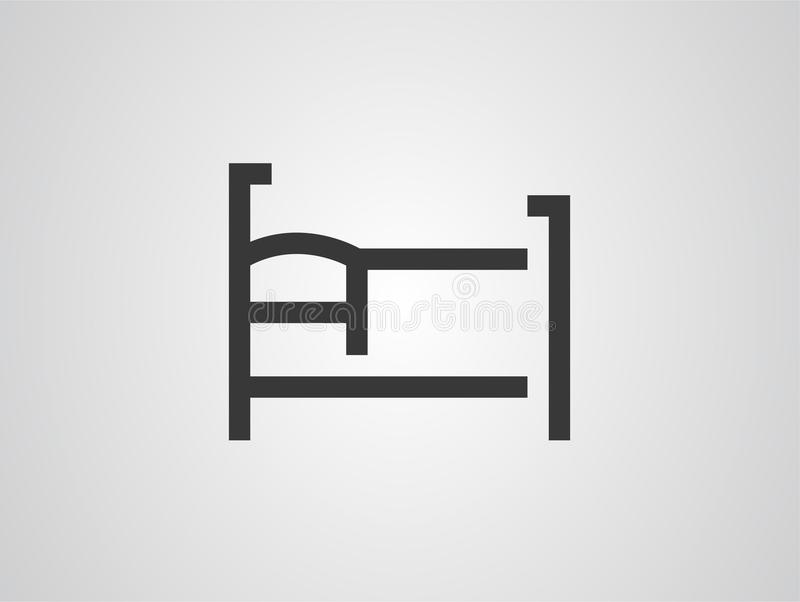 Bed vector icon sign symbol vector illustration