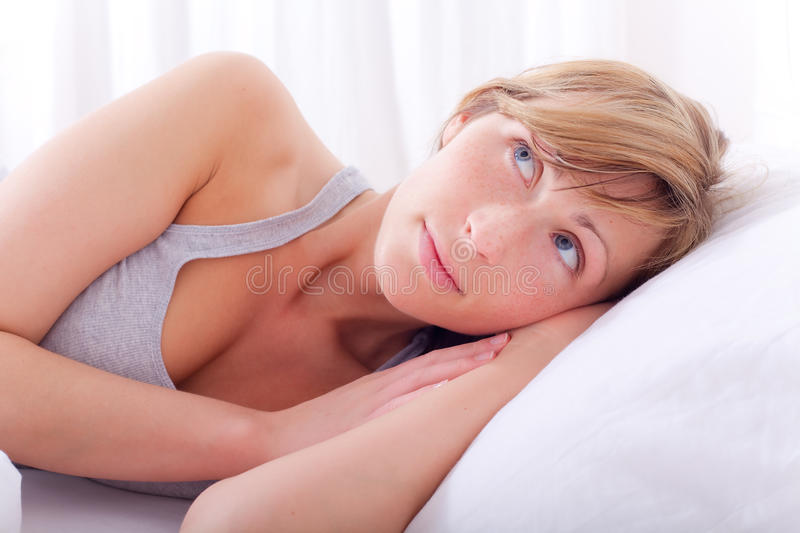 Download Bed woman stock image. Image of cute, love, lying, healthy - 13710441