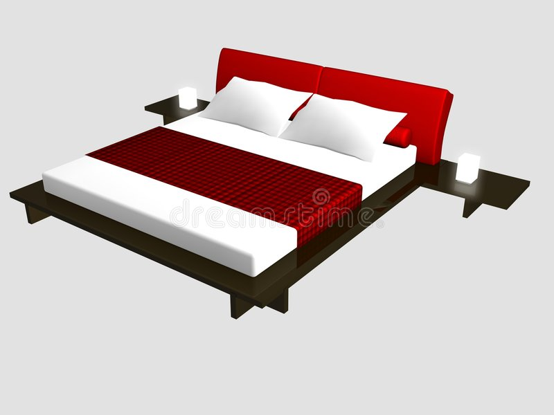 Bed1 stock illustratie