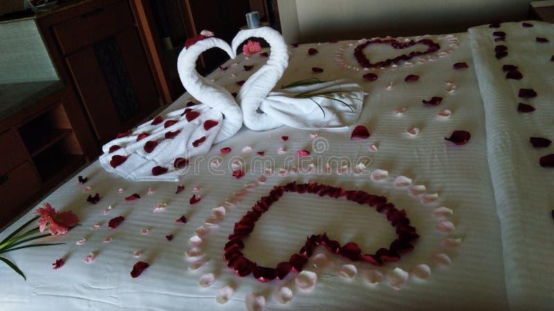 Beddecoratie royalty-vrije stock foto's