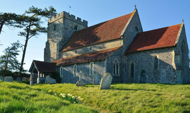Beddingham kyrka St Andrews Sussex UK fotografering för bildbyråer