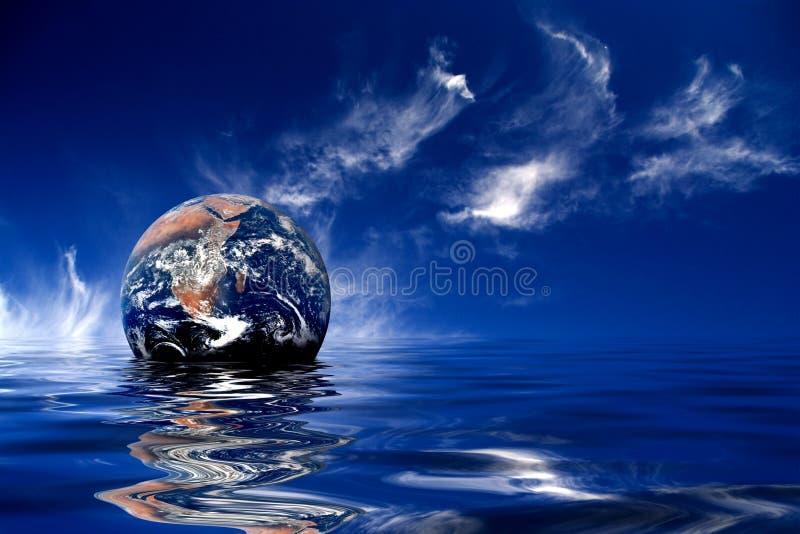 Bedecken Sie das Schwimmen mit Erde vektor abbildung