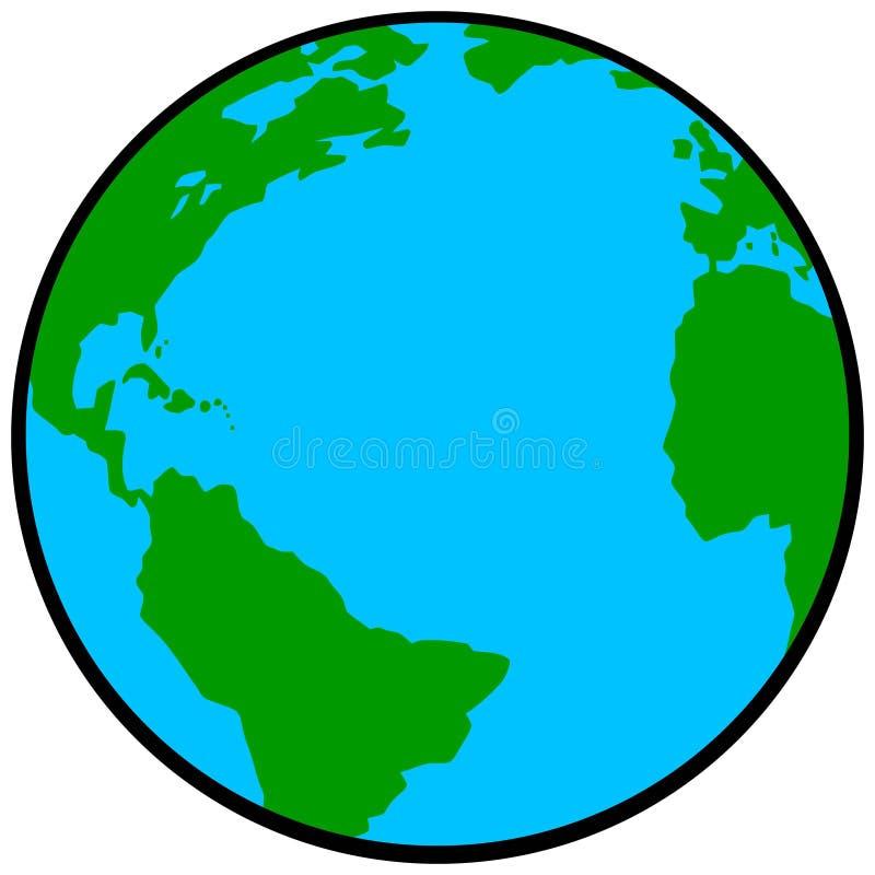 Bedecken Sie Ikone mit Erde stock abbildung