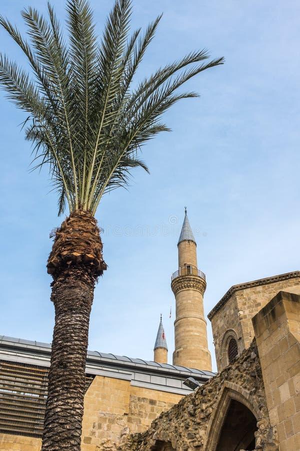 Bedestan en Selimiye-Moskee Cyprus stock afbeeldingen