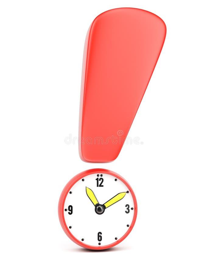 Bedeutung der Zeit stock abbildung