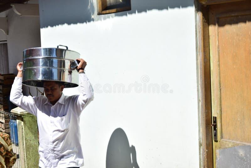 Bedevaartgraf in Selo-boyolali stock foto