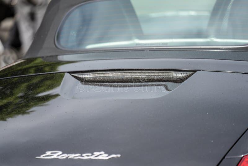 Bedford, Bedfordshire, Großbritannien zersplittern am 2. Juni 2019 von Porsche Boxster Ausgew?hlter Fokus lizenzfreie stockfotos