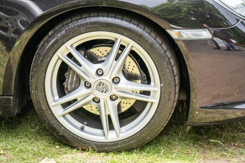 Bedford, Bedfordshire, Großbritannien zersplittern am 2. Juni 2019 von Porsche Boxster Ausgew?hlter Fokus stockfotografie
