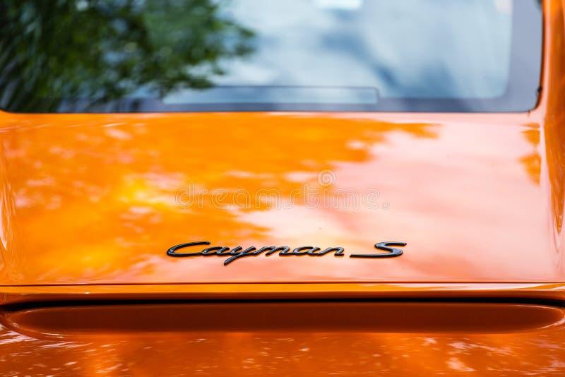 Bedford, Bedfordshire, Großbritannien zersplittern am 2. Juni 2019 von Porsche Cayman S lizenzfreie stockbilder