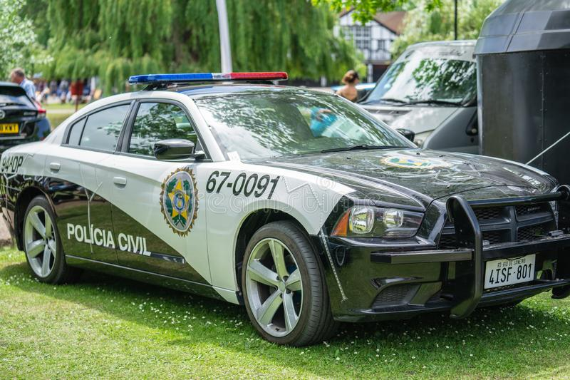 Bedford, Bedfordshire, UK June 2 2019. Festival of Motoring. Dodge Charger PPV Police Pursuit Vehicle.  royalty free stock photography